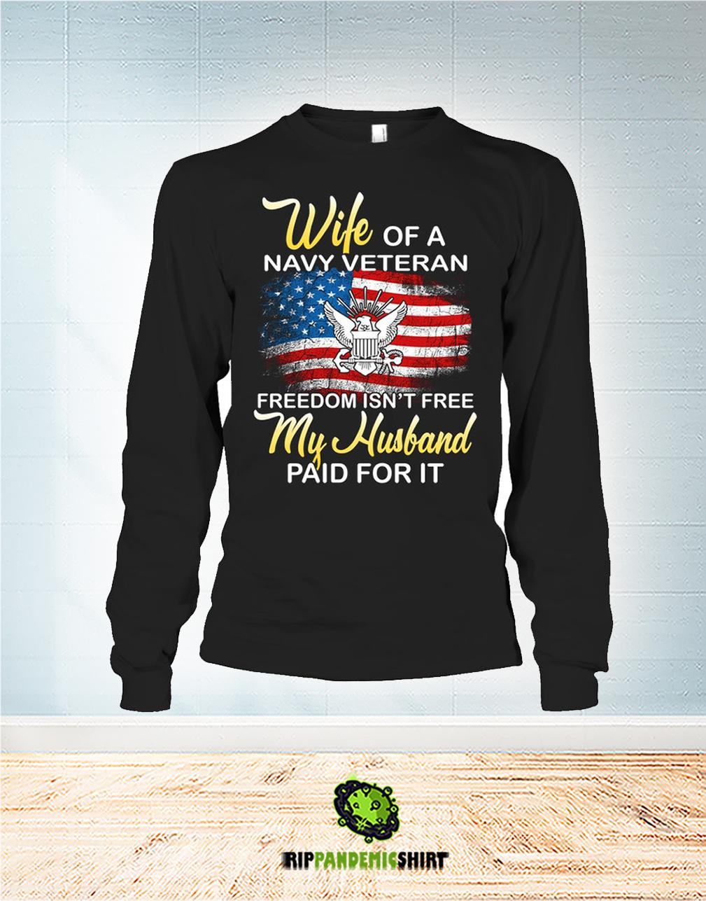 Wife of navy veteran shirt