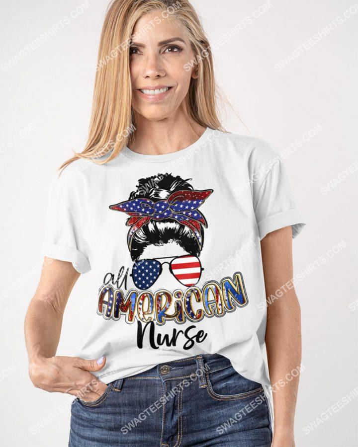 [Amazing mariashirts] all american nurse fourth of july shirt