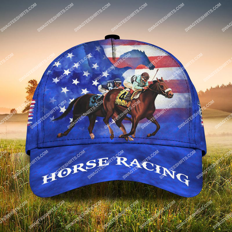 Amazingswagteeshirt]  american flag horse racing all over printed classic cap