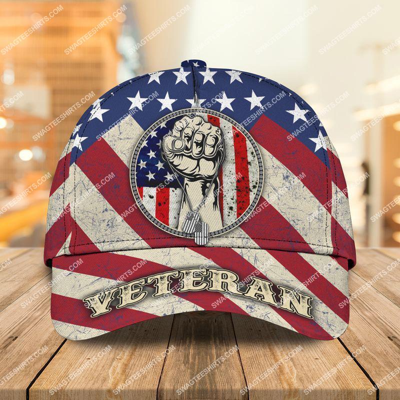 Amazingswagteeshirt]  american flag proud veteran all over printed classic cap
