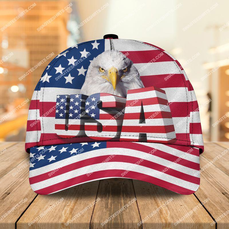 Amazingswagteeshirt]  bald eagle american flag all over printed classic cap