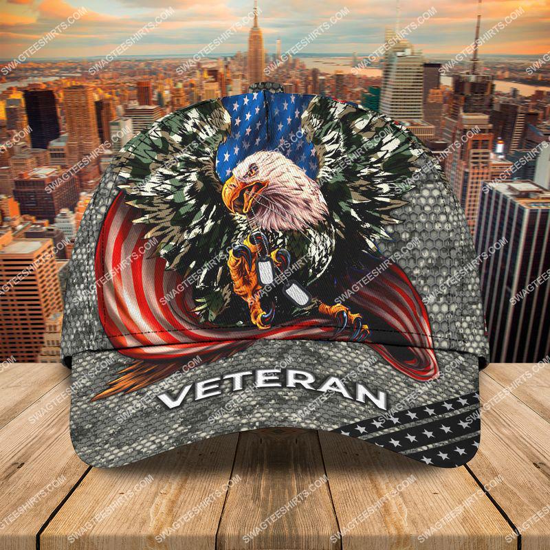 Amazingswagteeshirt]  bald eagle american flag happy veterans day camo all over printed classic cap