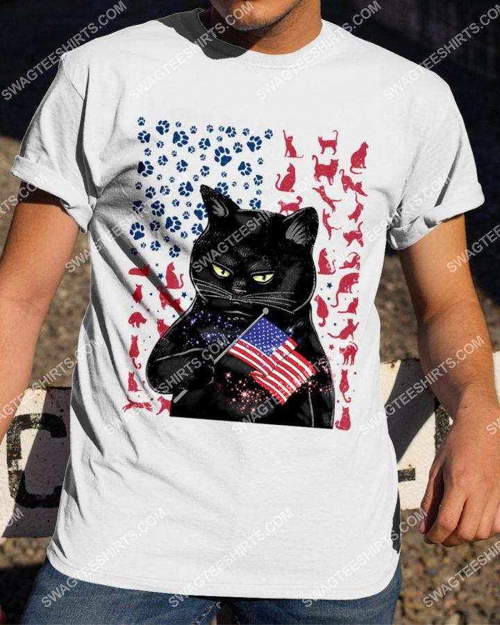 [Amazing mariashirts] black cat happy independence day shirt