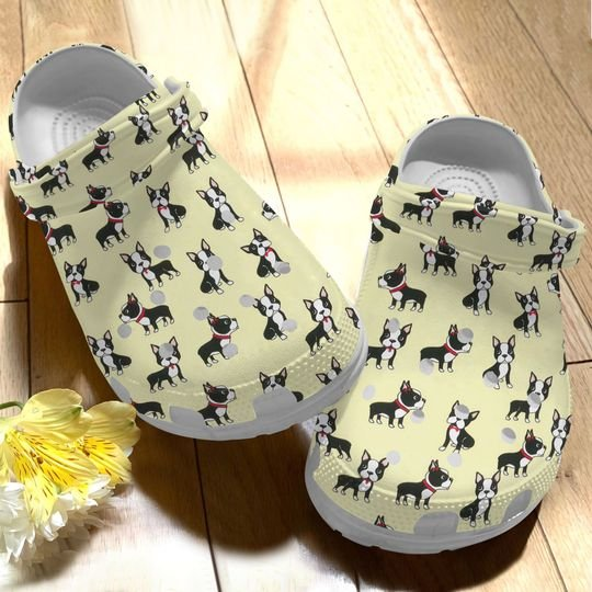 [Amazing owndesignshirt] boston terrier dogs lover all over printed crocs