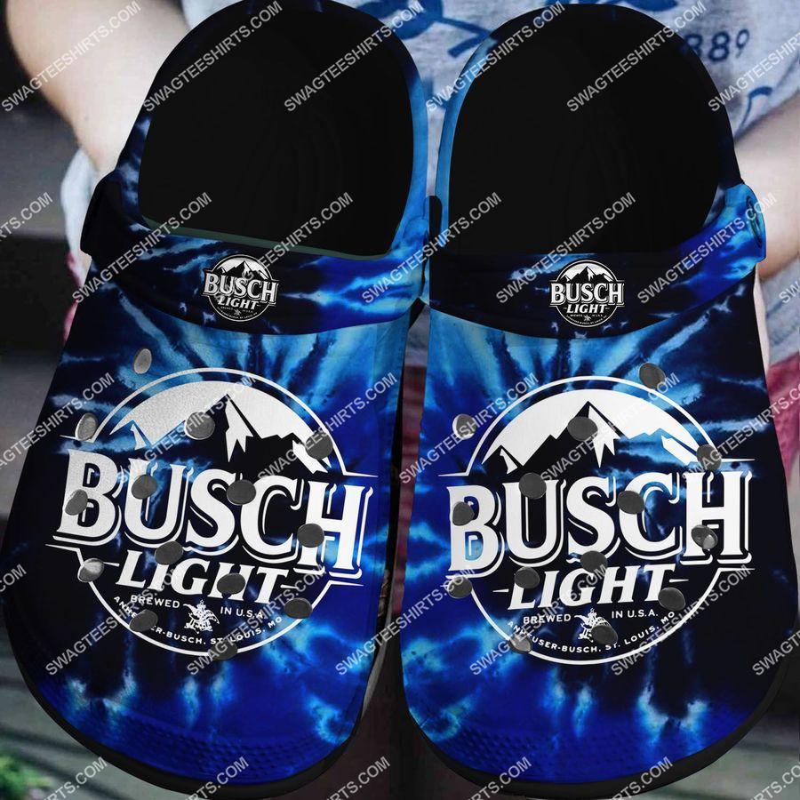 [Amazing fullprintingteeshirt] busch light all over printed crocs crocband clog