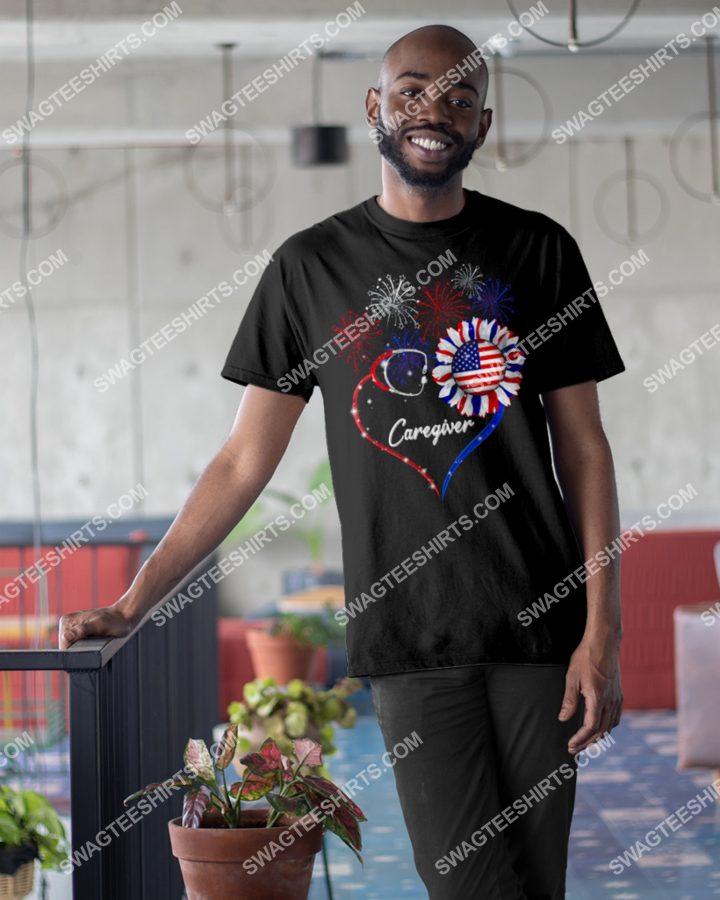 Amazingmariashirts] caregiver happy independence day shirt