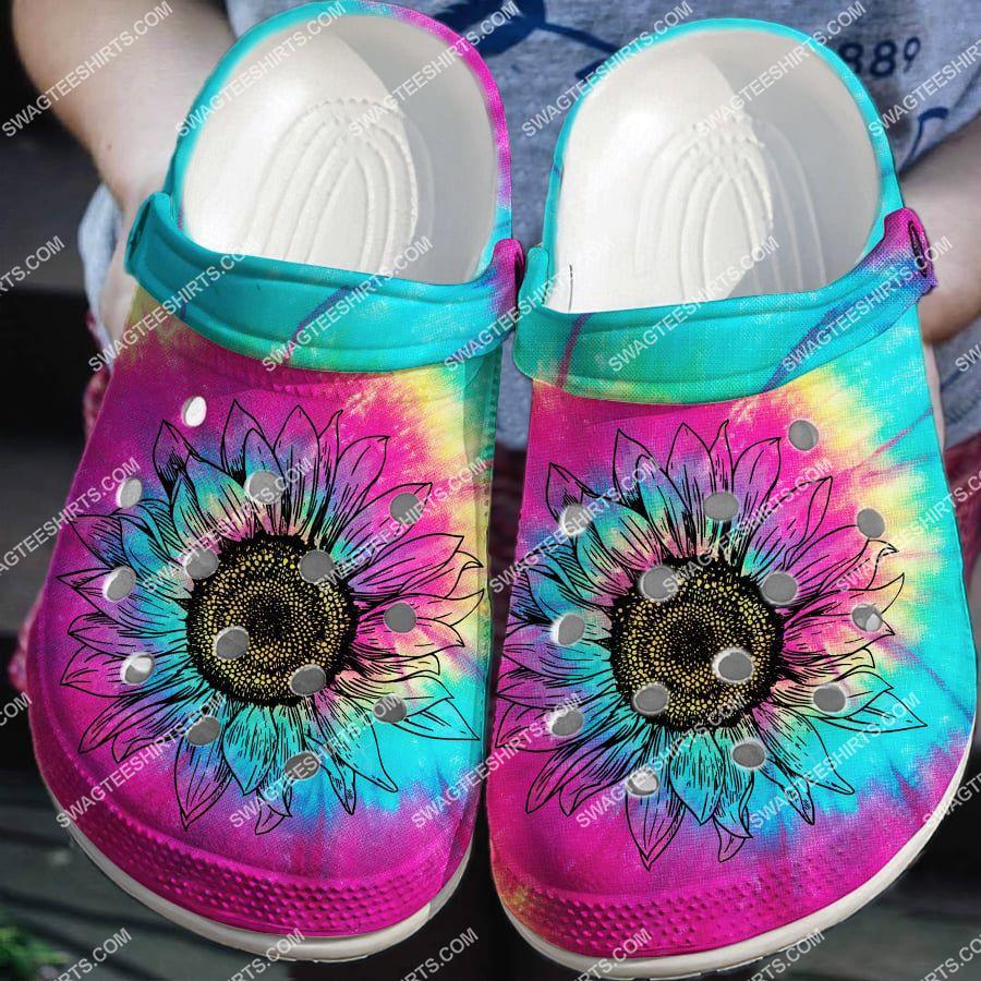 [Amazing fullprintingteeshirt] colorful hippie sunflower all over printed crocs