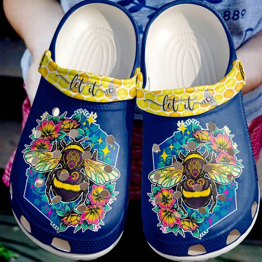 [Amazing owndesignshirt] colorful let it be floral all over printed crocs