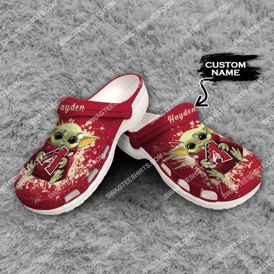 [Amazing swagteeshirt] custom baby yoda hold arizona diamondbacks all over printed crocs