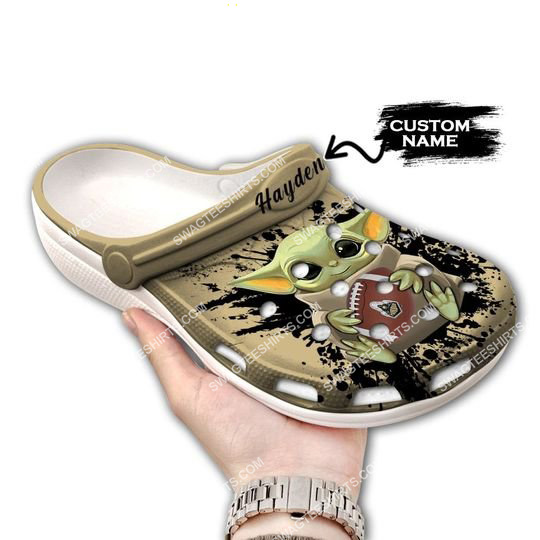 [Amazing swagteeshirt] custom baby yoda hold purdue boilermakers football all over printed crocs