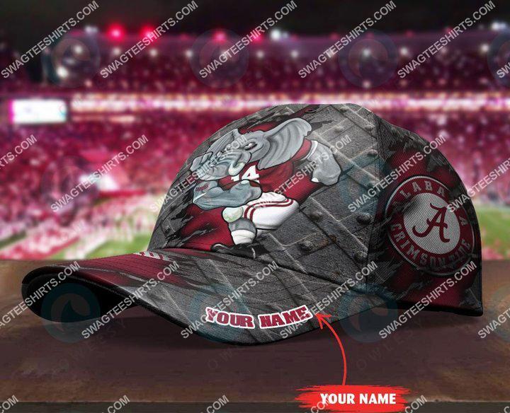 Amazingfullprintingteeshirt] custom name alabama crimson tide football full printing cap