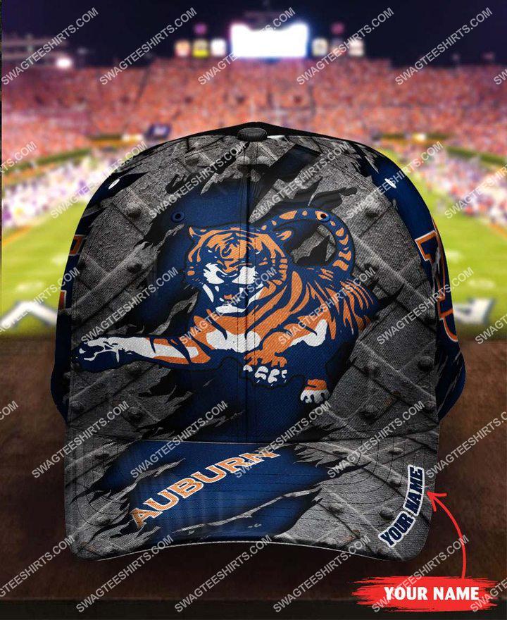 Amazingfullprintingteeshirt] custom name auburn tigers football full printing cap