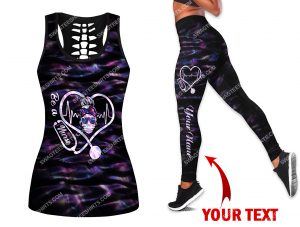 [Amazing owndesignshirt] custom name be a nurse all over printed set sports outfit