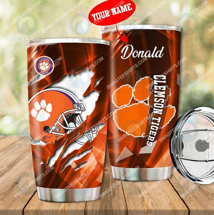 Amazingfullprintingteeshirt] custom name clemson tigers football full printing tumbler