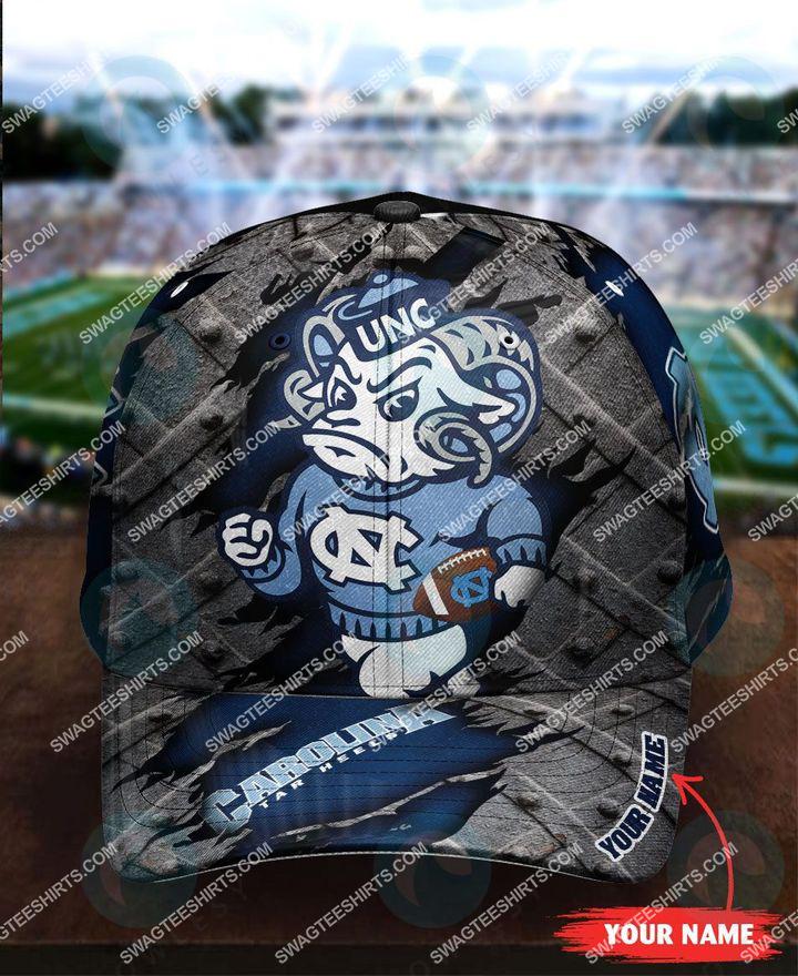 Amazingfullprintingteeshirt] custom name north carolina tar heels football full printing cap