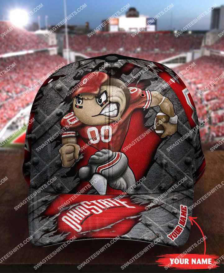 Amazingfullprintingteeshirt] custom name ohio state buckeyes football full printing cap