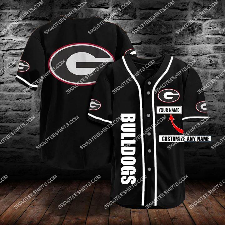 [Amazing fullprintingteeshirt] custom name the georgia bulldogs team full printing baseball jersey
