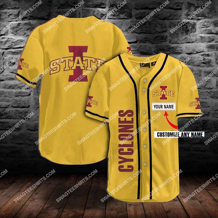 [Amazing fullprintingteeshirt] custom name the iowa state cyclones team full printing baseball jersey