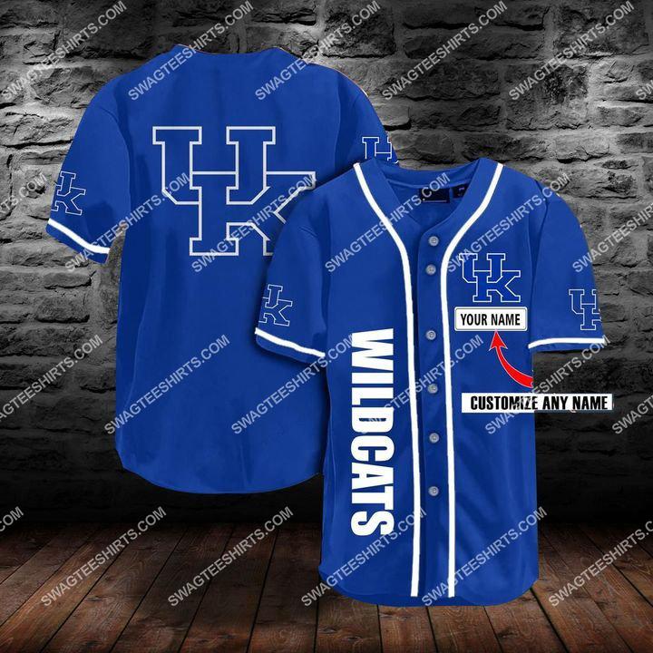 [Amazing fullprintingteeshirt] custom name the kentucky wildcats team full printing baseball jersey