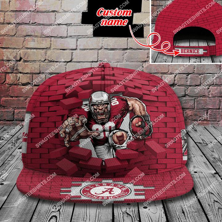 Amazingfullprintingteeshirt] custom name the university of alabama crimson tide full printing cap