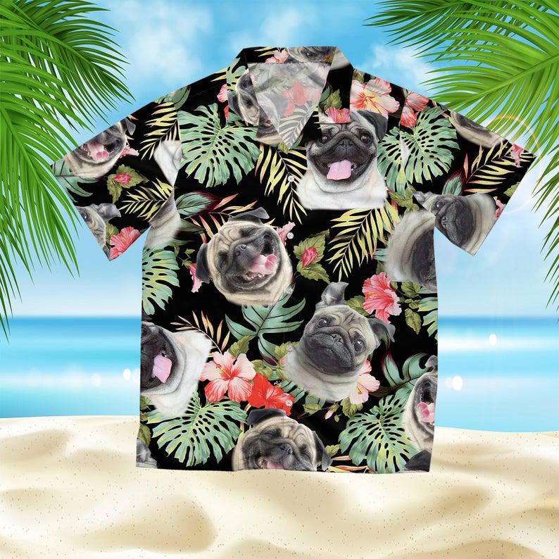 [Amazing swagtshirt] dog lover pug summer vacation all over print hawaiian shirt