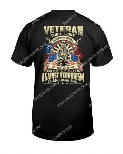 [Amazing mariashirts] don't think because my time has ended veteran shirt