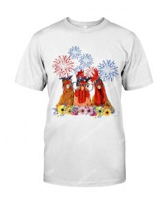 [Amazing mariashirts] floral chickens american flag 4th of july shirt