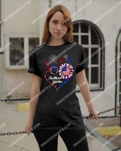 [Amazing mariashirts] healthcare worker happy independence day shirt