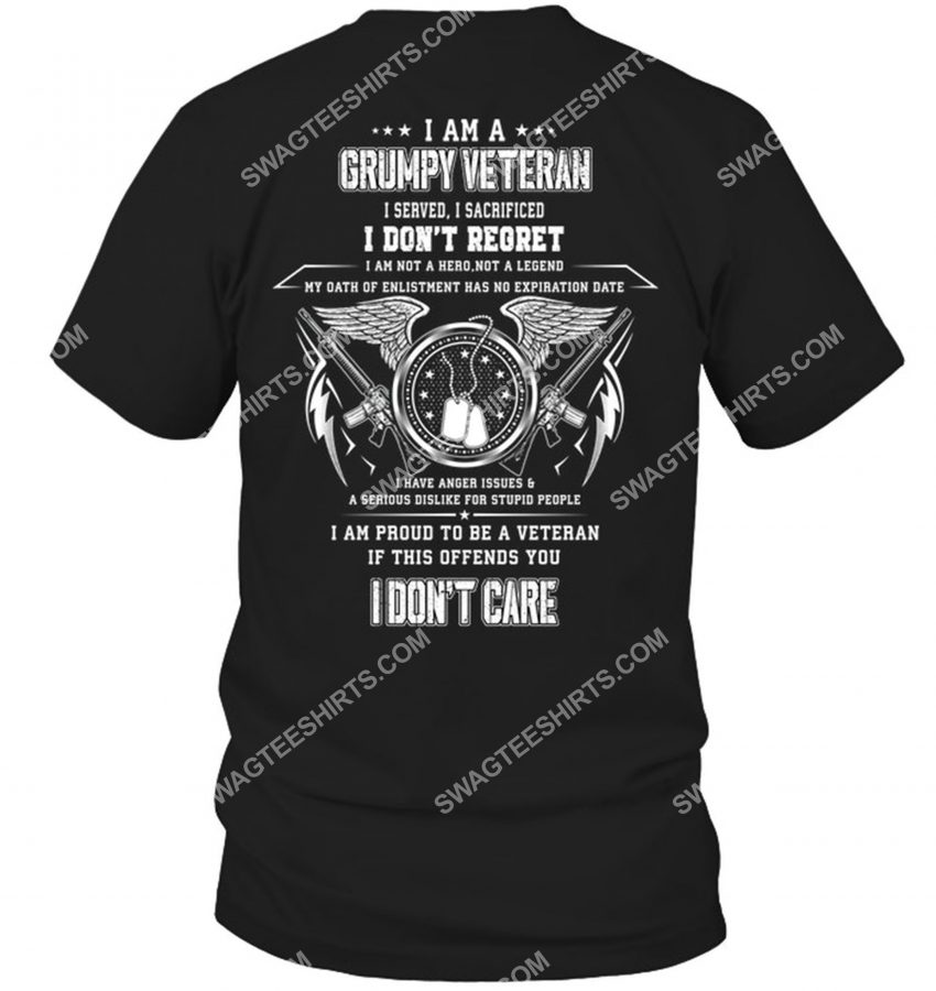 [Amazing mariashirts] i am a grumpy old veteran i served i sacrificed veterans day shirt