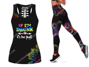 [Amazing owndesignshirt] if im drunk its her fault all over printed set sports outfit