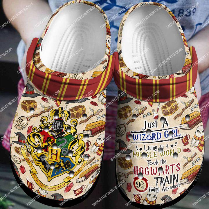 [Amazing swagteeshirt] just a wizard girl muggle world took the hogwarts crocs