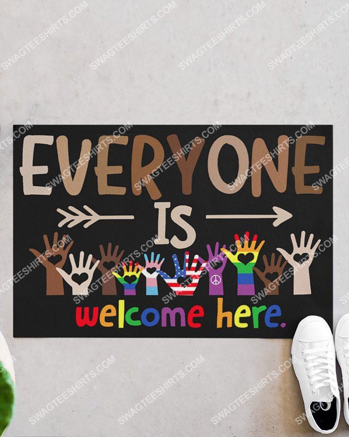 [Amazing swagtshirt] lgbt everyone is welcome here doormat