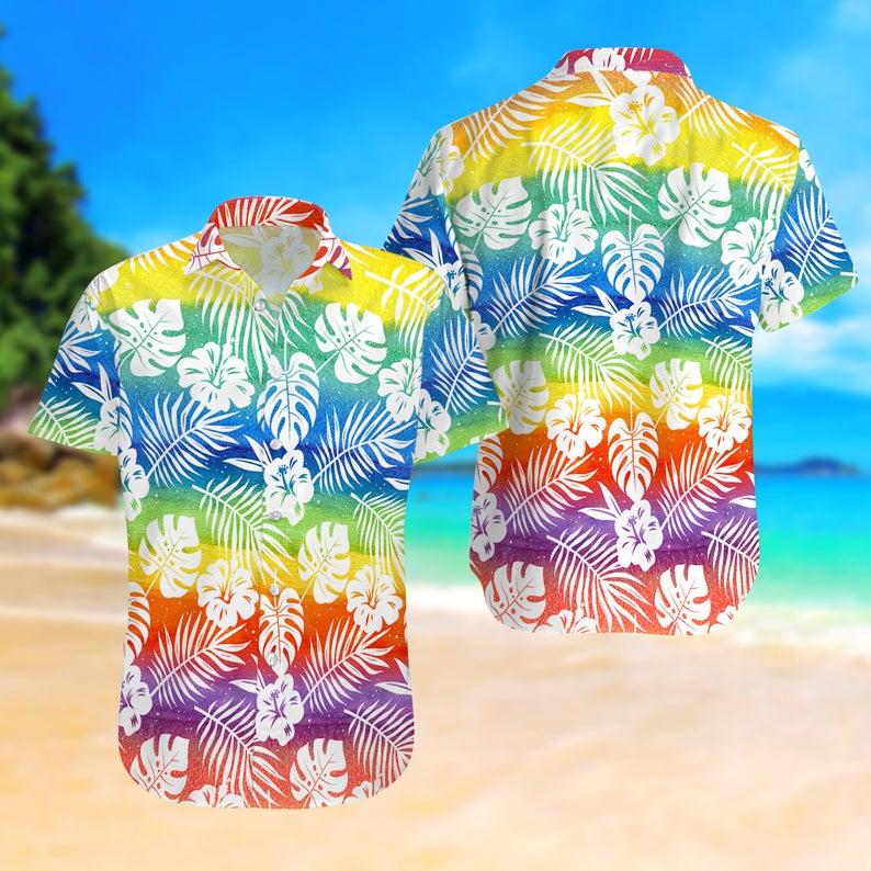 [Amazing swagtshirt] lgbt summer vacation all over print hawaiian shirt