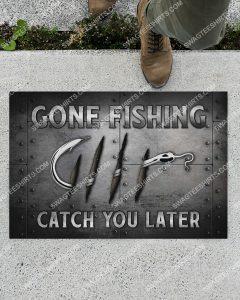 [Amazing swagtshirt] love fishing gone fishing catch you later doormat