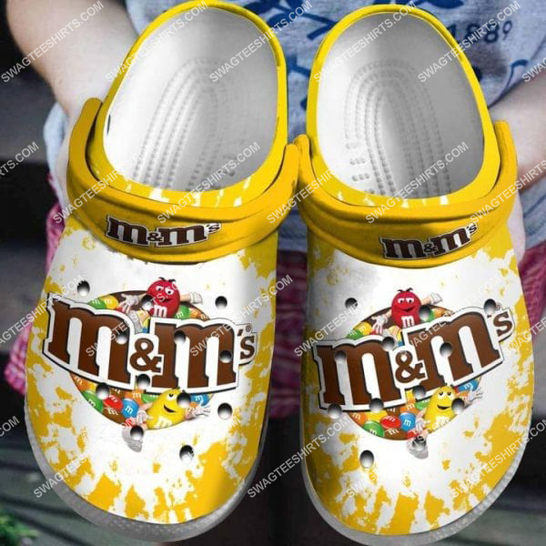 [Amazing swagteeshirt] m and m candy chocolate all over printed crocs