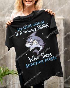 [Amazing mariashirts] my spirit animal is a grumpy shark who slaps annoying people shirt