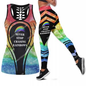 [Amazing owndesignshirt] never stop chasing rainbows all over printed set sports outfit