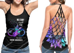 [Amazing owndesignshirt] no story should end too soon suicide awareness strappy back tank top