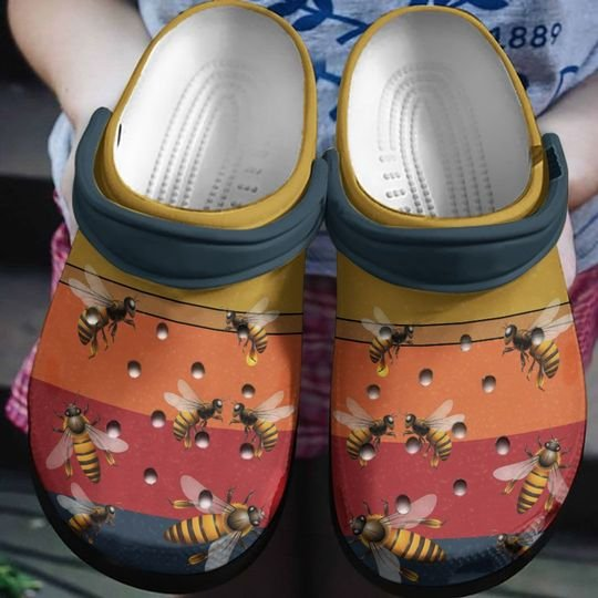 [Amazing owndesignshirt] retro bee lover all over printed crocs