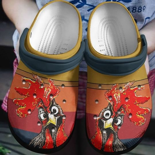 [Amazing owndesignshirt] retro farm life rooster all over printed crocs
