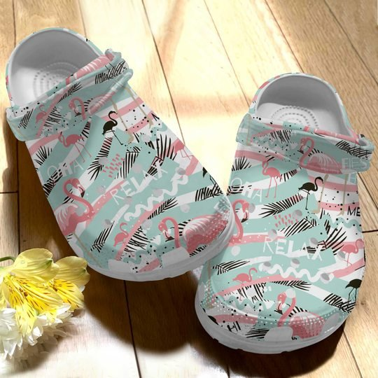 [Amazing owndesignshirt] seamless and flamingo summer relax all over printed crocs