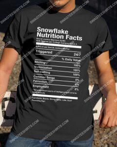 Amazingmariashirts] snowflake nutrition facts shirt