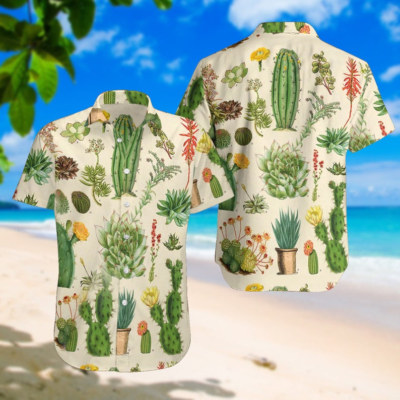 [Amazing swagtshirt] summer time cactus all over print hawaiian shirt
