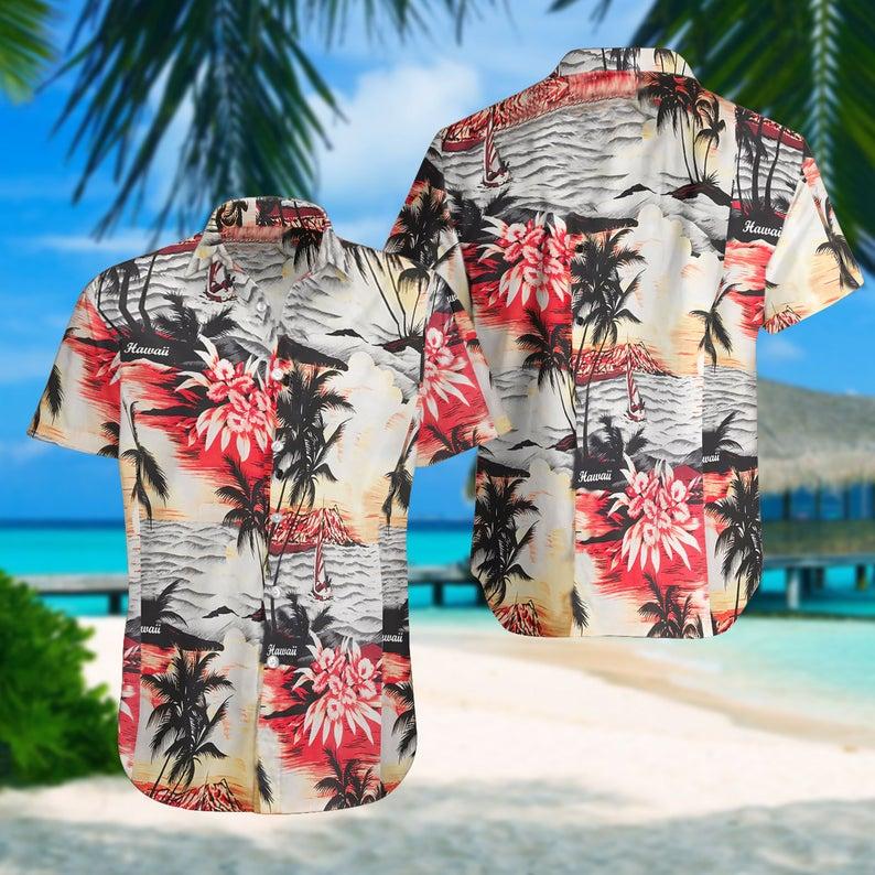 [Amazing swagtshirt] summer time ocean coast all over print hawaiian shirt