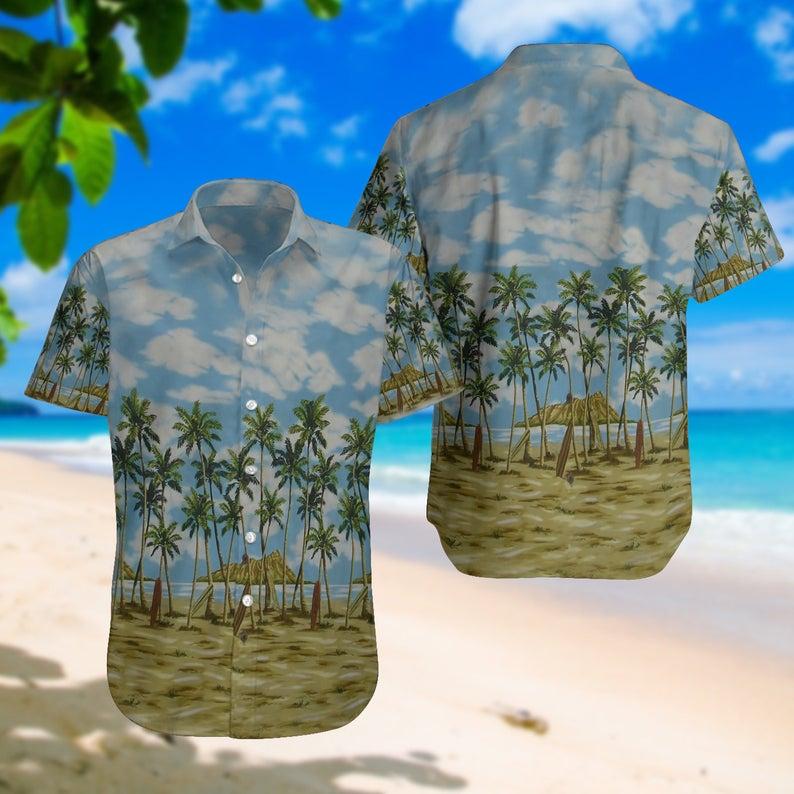 [Amazing swagtshirt] summer time the beach all over print hawaiian shirt