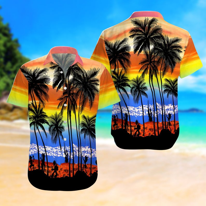 [Amazing swagtshirt] summer time the beach colorful all over print hawaiian shirt