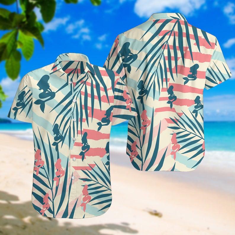 [Amazing swagtshirt] summer time the mermaid all over print hawaiian shirt
