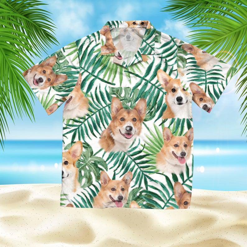 [Amazing swagtshirt] summer time tropical corgi all over print hawaiian shirt
