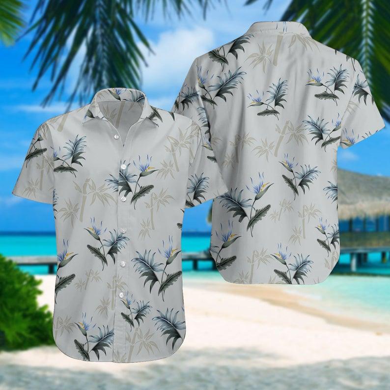[Amazing swagtshirt] summer time tropical palm all over print hawaiian shirt