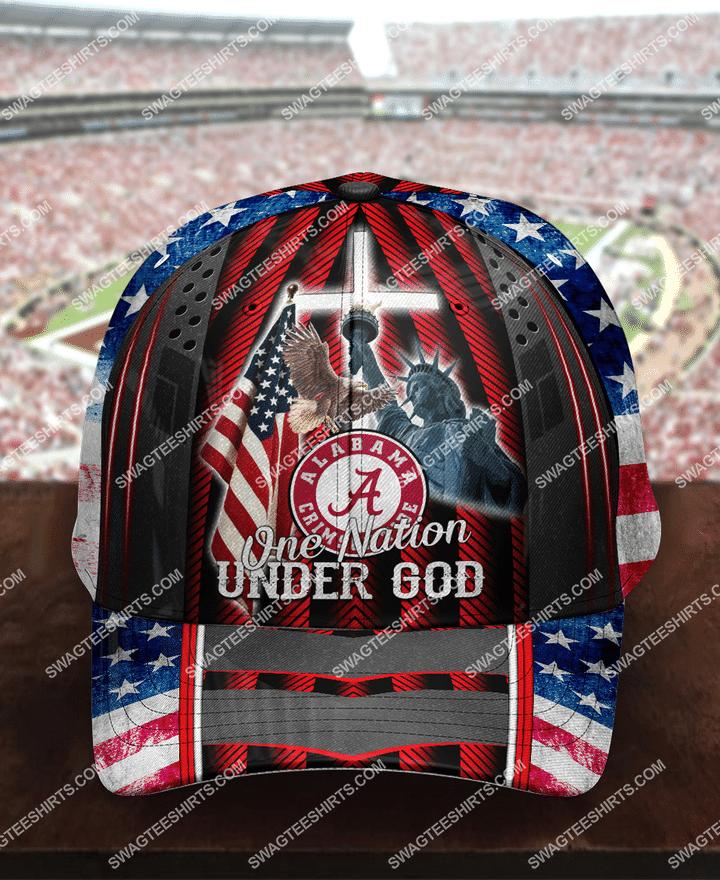 Amazingfullprintingteeshirt] the alabama crimson tide one nation under God full printing cap